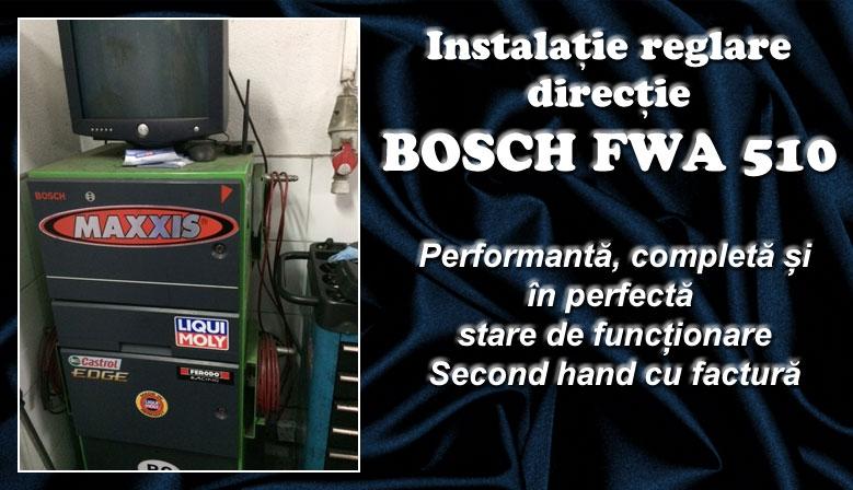 Aparat (stand) reglaj direcție, geometrie roți Bosch FWA 510