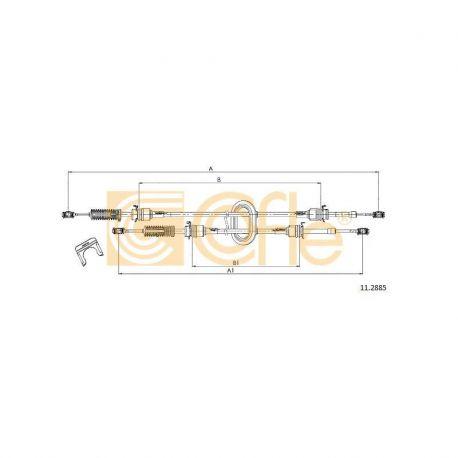 Cablu cutie de viteze Renault Master II Cofle 11.2885 / 8200134483