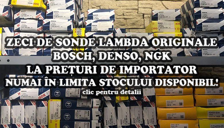 Zeci de sonde lambda originale Bosch, Denso și NGK la preț de importator, numai în limita stocului disponibil!